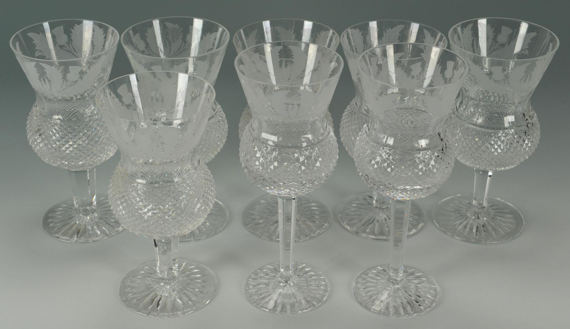 Lot 119: Edinburgh Crystal Stemware Thistle Pattern, 8 pcs