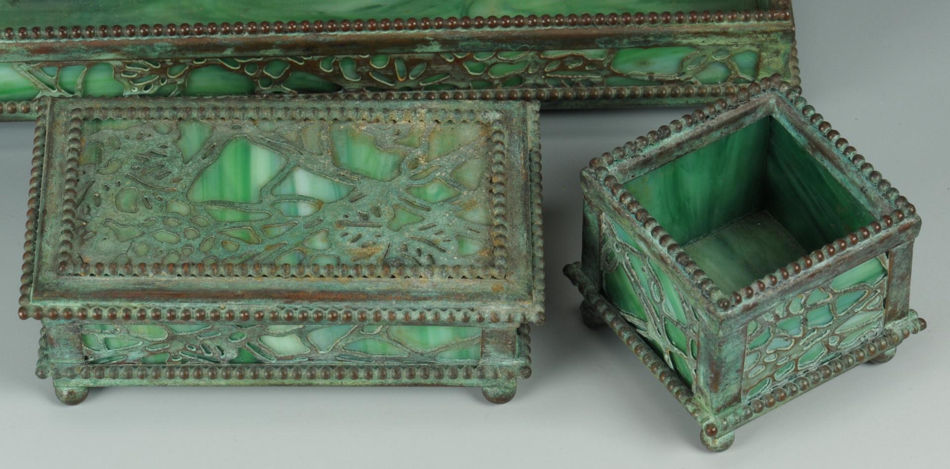 Lot 125: Riviere Studios Partial Desk Set, 3 items