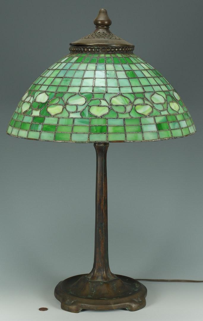 Lot 127: Tiffany Studios Acorn Bronze Lamp