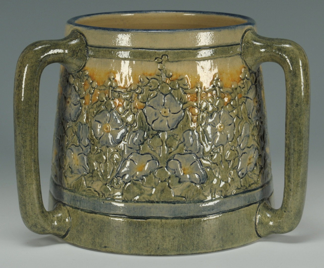 Lot 129: Newcomb Art Pottery Loving Cup by Leona Nicholson