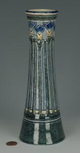 Lot 130: Newcomb Art Pottery Vase by Leona Nicholson