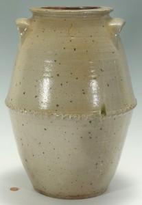 Lot 136: West TN Pottery Jar, attrib. T. W. Craven