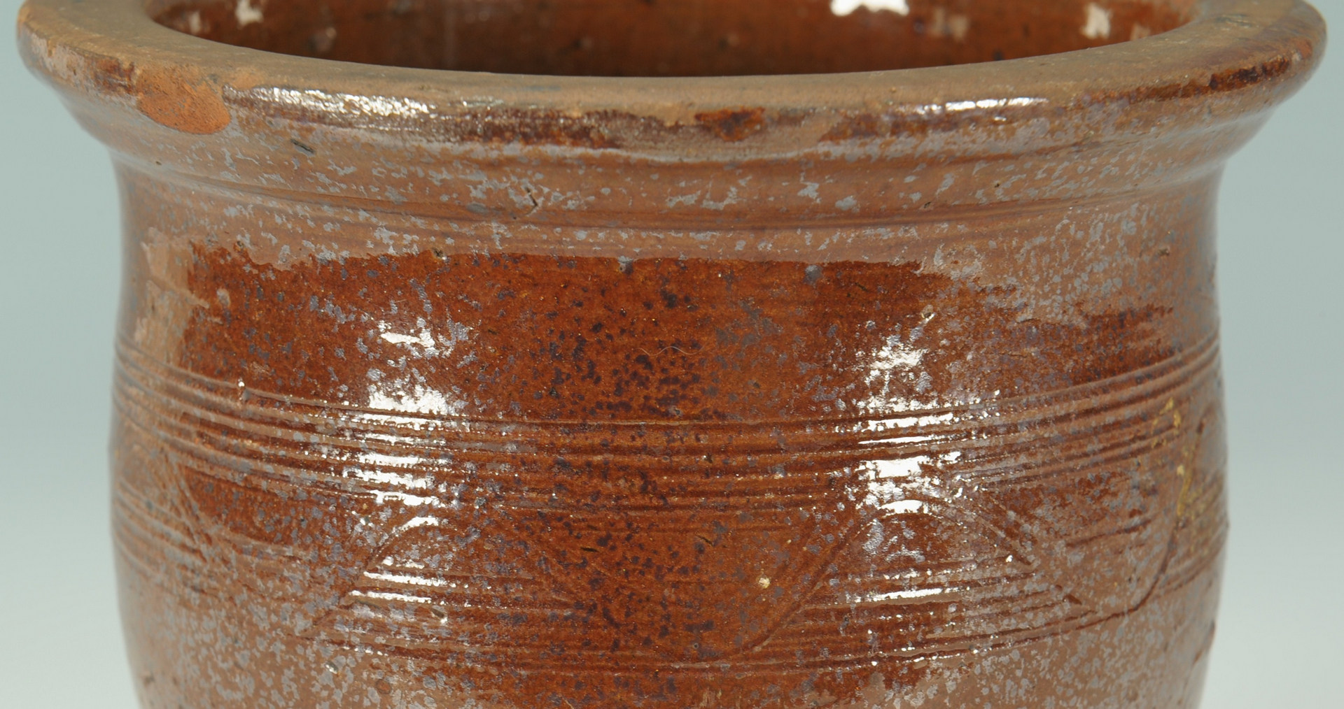 Lot 139: East TN Redware Pottery Cream pot, attrib. Cain