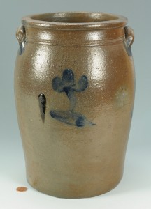 Lot 141: SW Virginia / East TN Pottery Jar, attrib. Decker