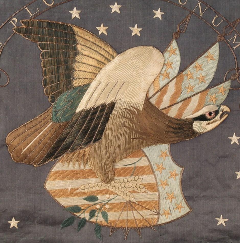Lot 144: Federal Eagle Silk Embroidery