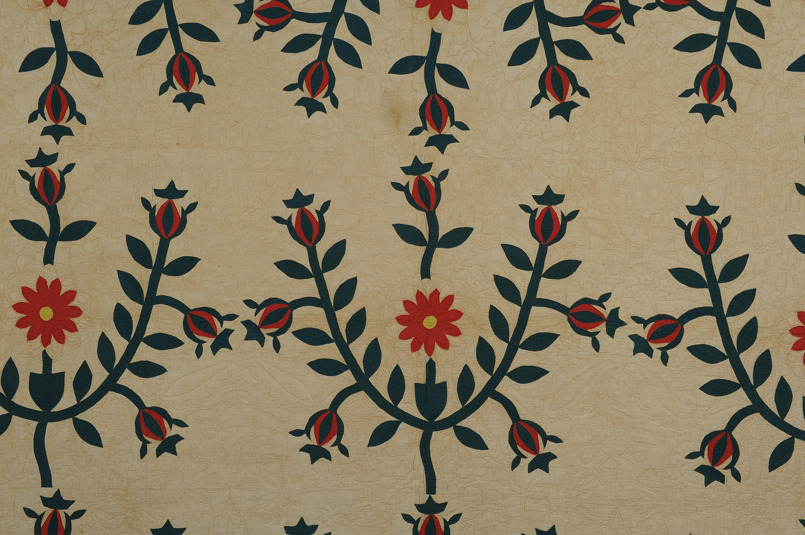 Lot 146: 19th Century Middle TN Floral Quilt