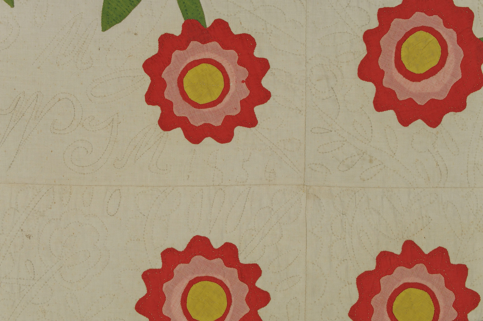 Lot 147: 19th C. Middle TN Quilt, California Rose Pattern