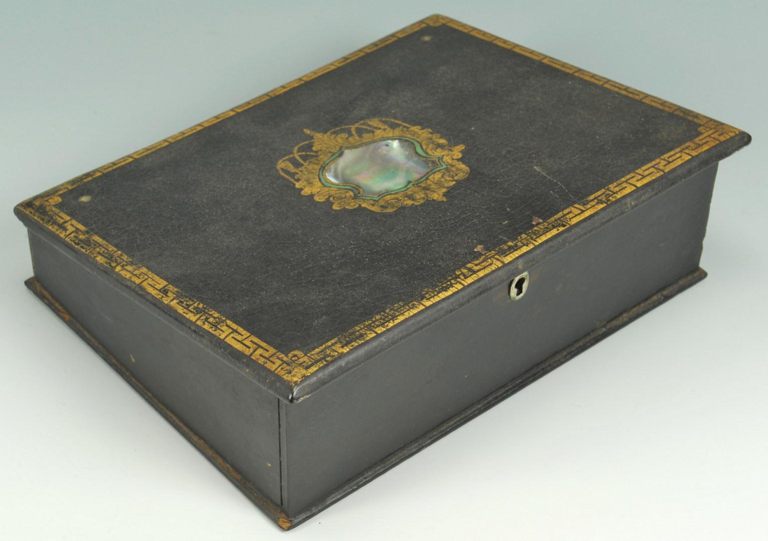 Lot 148: Dressing Case & Victorian Lap Desk