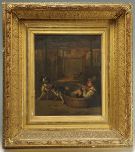 Lot 151: Joseph Gyselinckx Oil on Panel Painting