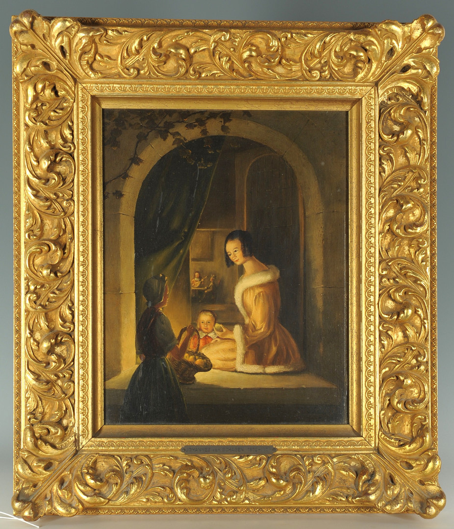 Lot 152: Dutch Oil on Board by Johannes Van Schegan