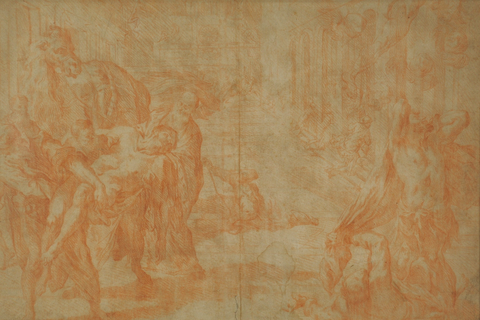 Lot 153: School of Tintoretto Drawing, 17th c.