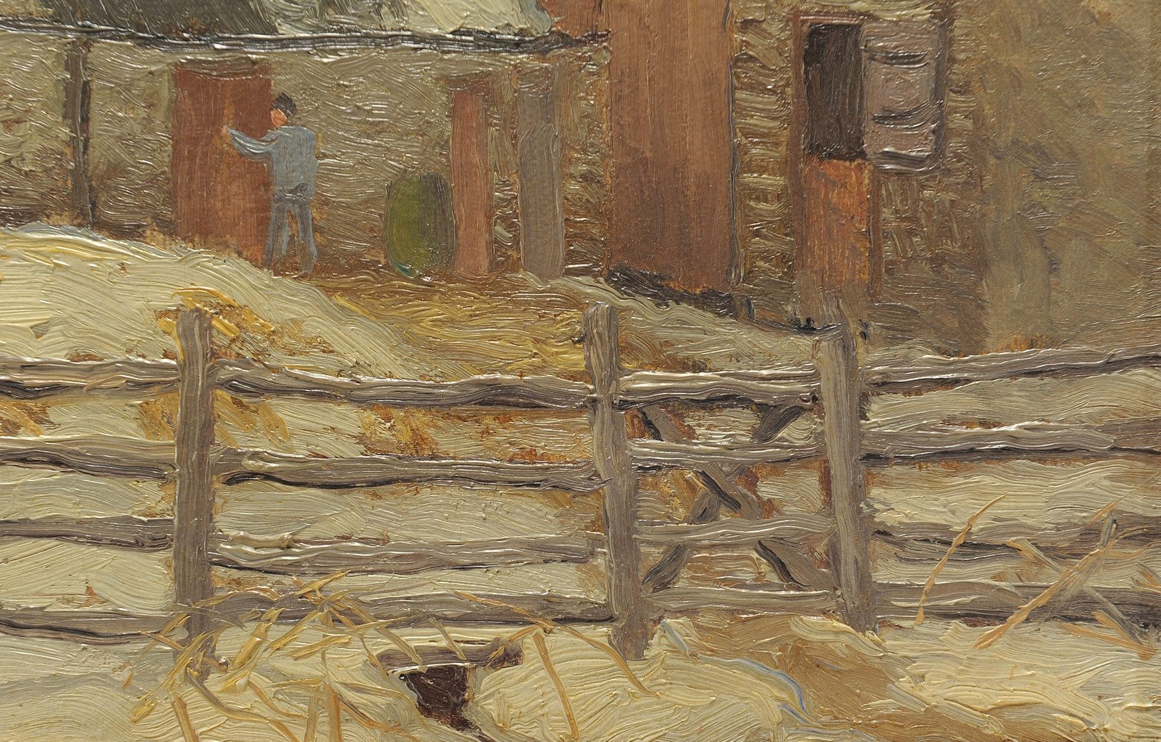 "Lot 160: Kenneth Nunamaker oil on board, ""Choar Time"""