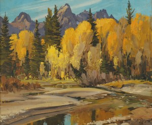 Lot 162: Conrad Schwiering o/b, AUTUMN REFLECTION