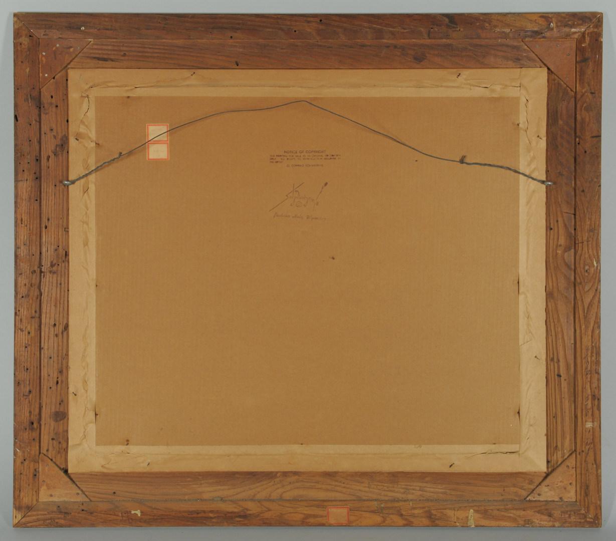 Lot 162: Conrad Schwiering o/b, AUTUMN REFLECTION