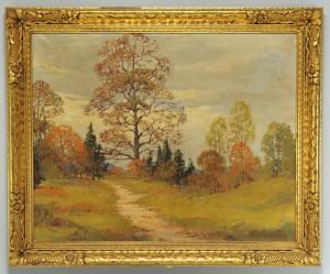 Lot 163: Fall Landscape Oil, manner of John Carlson