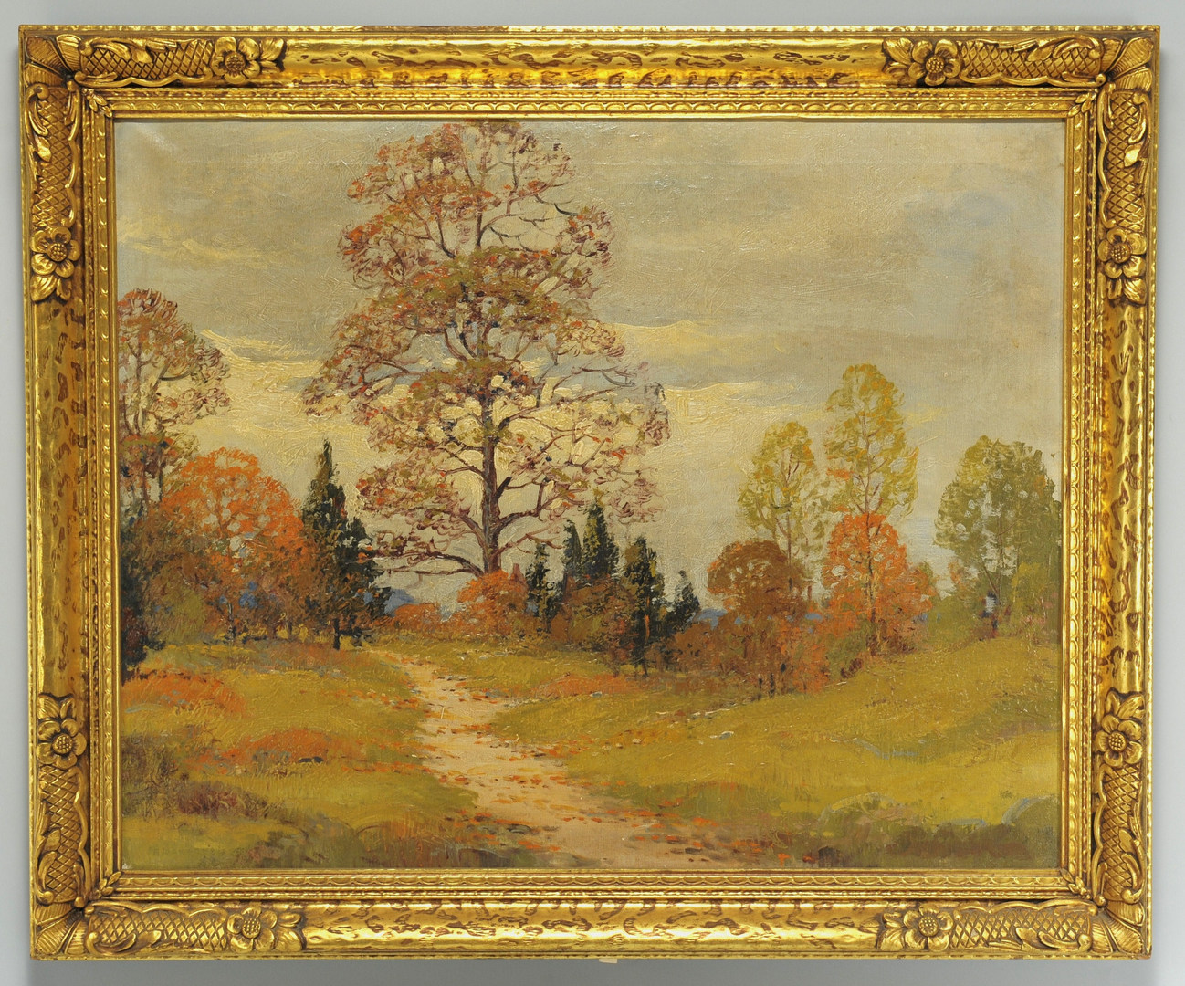 Lot 163: Fall Landscape Oil, manner of John Carlson