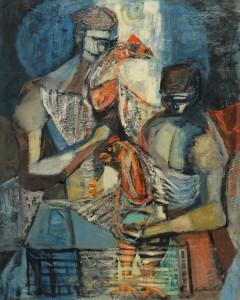 Lot 174: Robert Birdwell, abstract oil on canvas