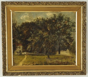 Lot 181: Painting and photos of Richard Alexander home