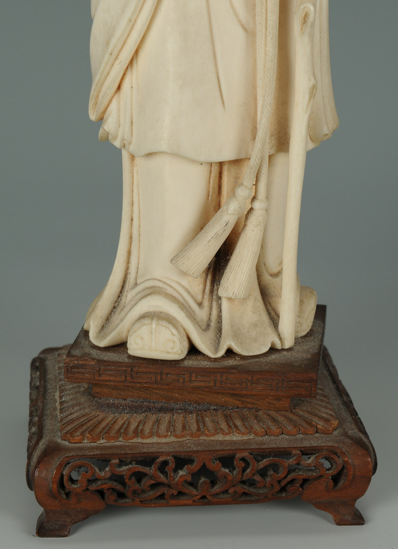 Lot 187: Chinese Carved Ivory Figure On stand