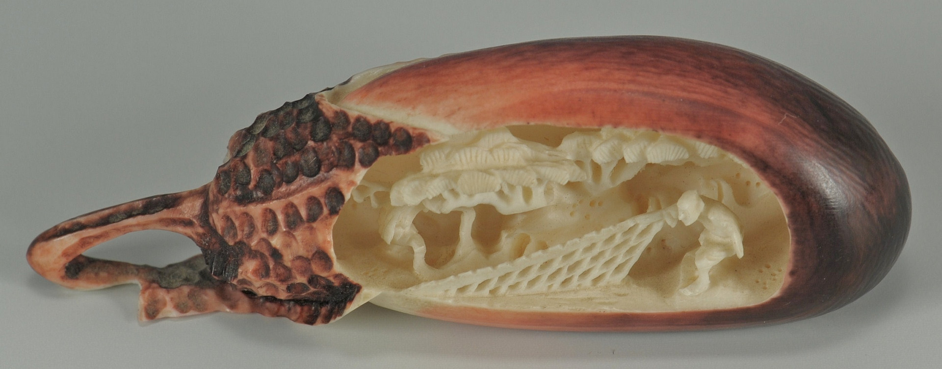 Lot 190: Japanese Ivory: Dragon Pistol Grips and Eggplant