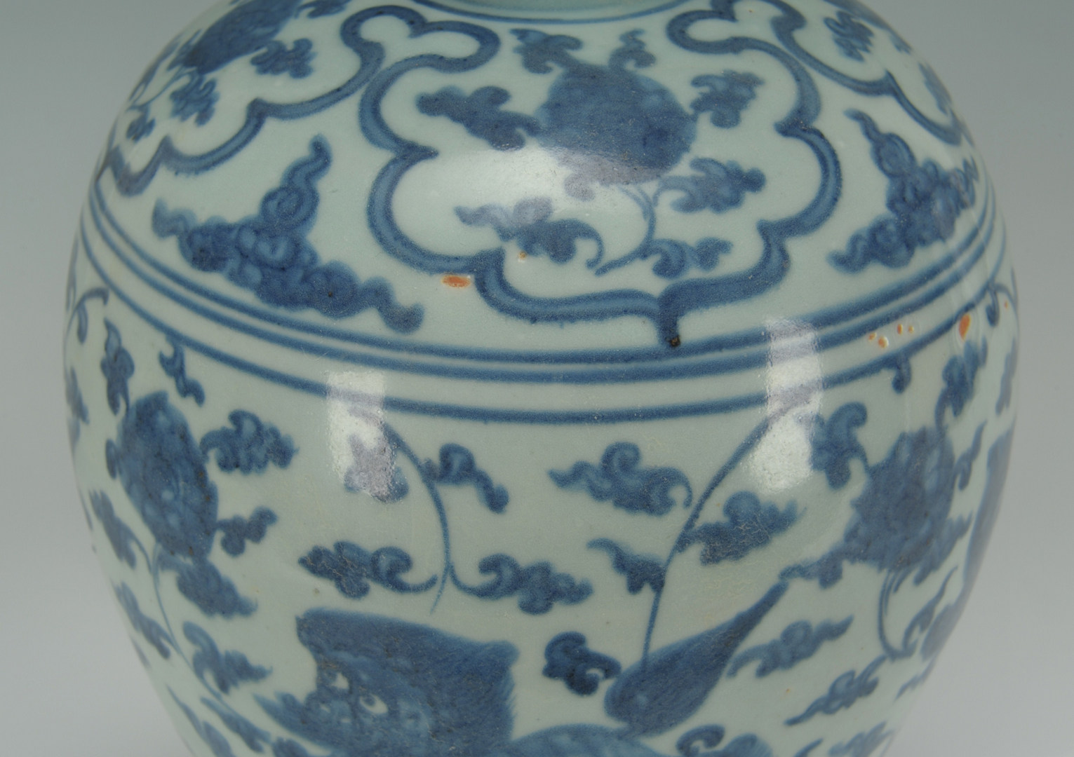 Lot 198: Chinese Porcelain Blue Underglaze Meiping Vase