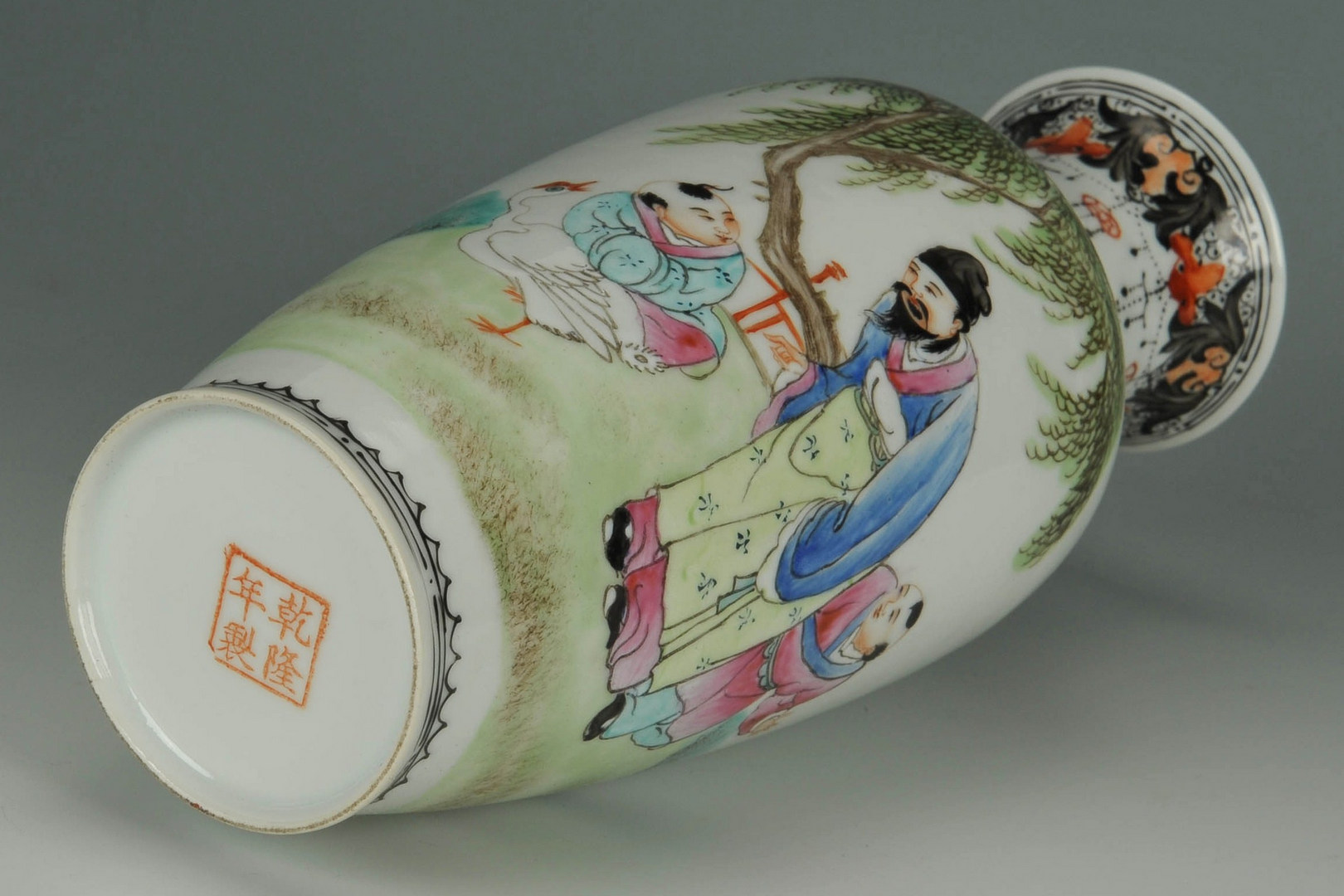 Lot 19: Pair Chinese Famille Rose Porcelain Vases