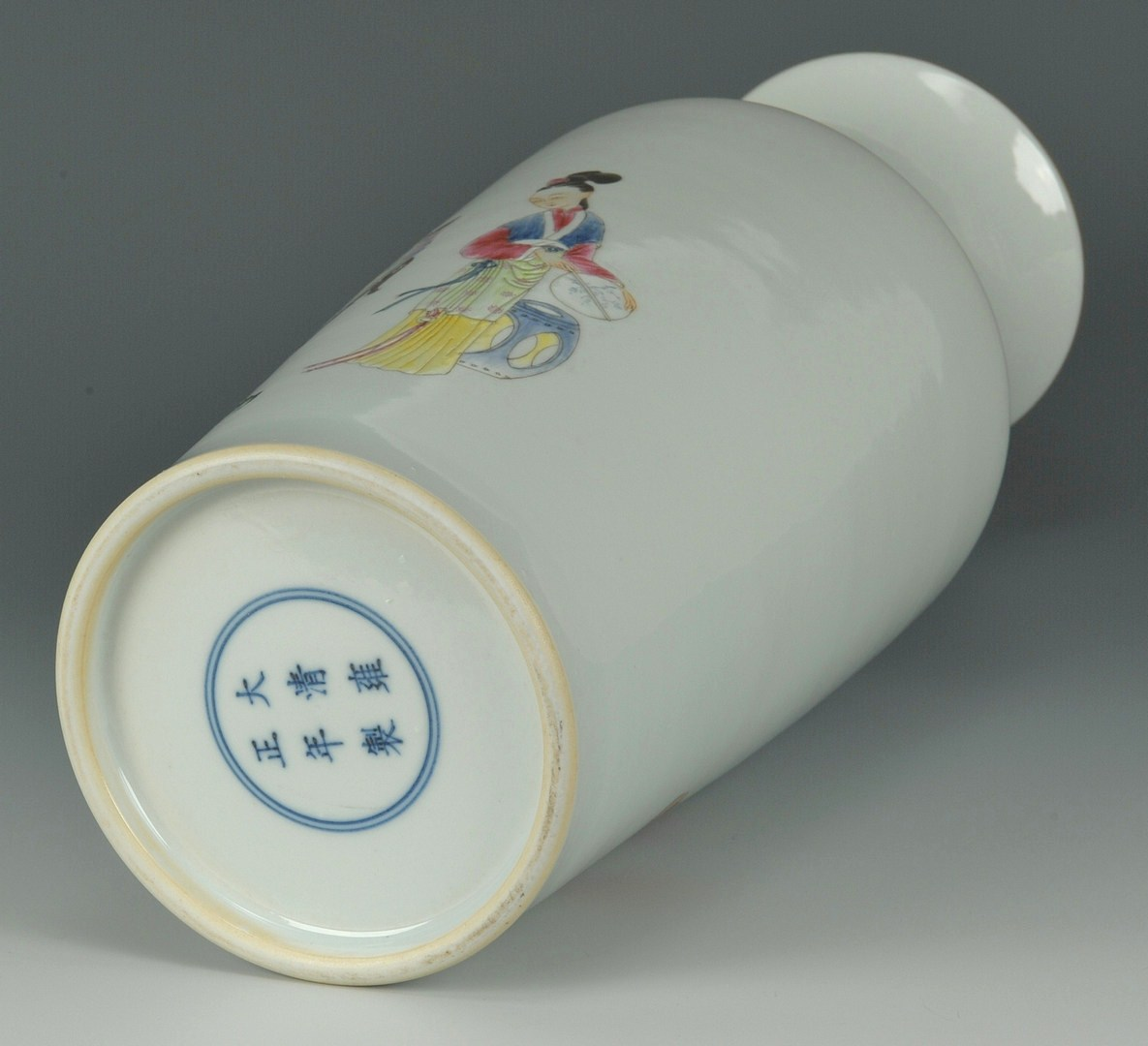 Lot 202: Chinese Famille Rose Porcelain Rouleau Vase