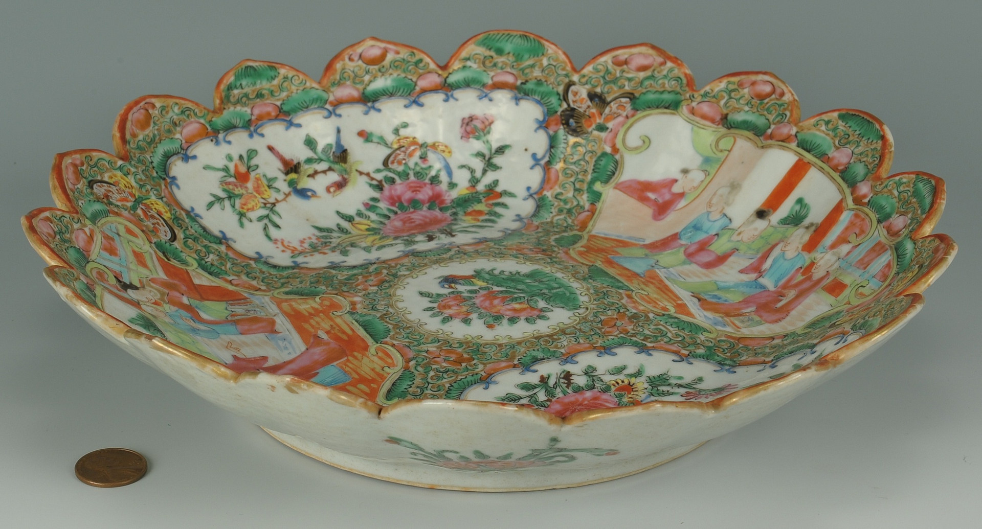 Lot 209: Chinese Rose Medallion Serving Dish