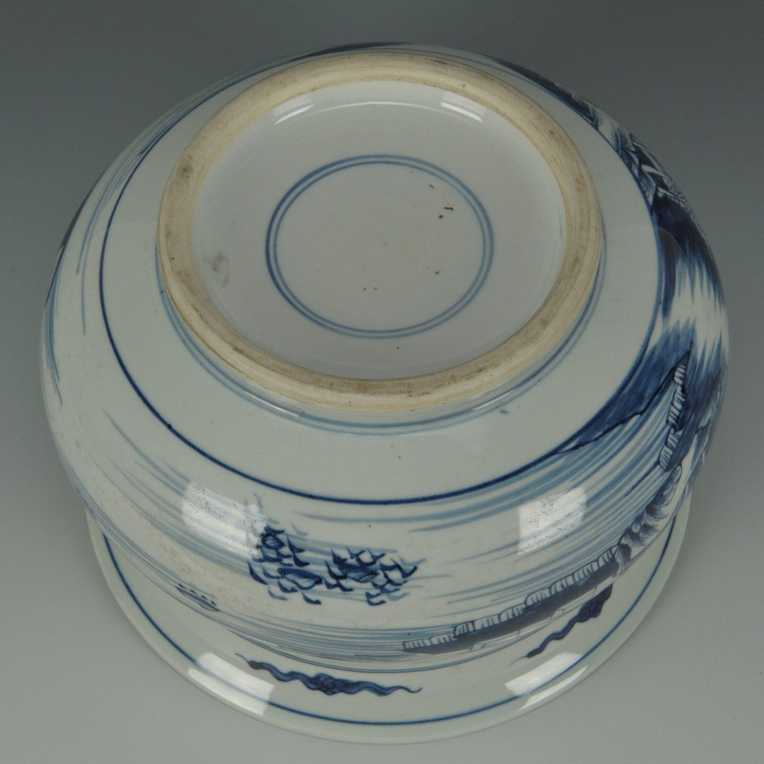 Lot 212: Chinese Blue & White Porcelain Jardiniere