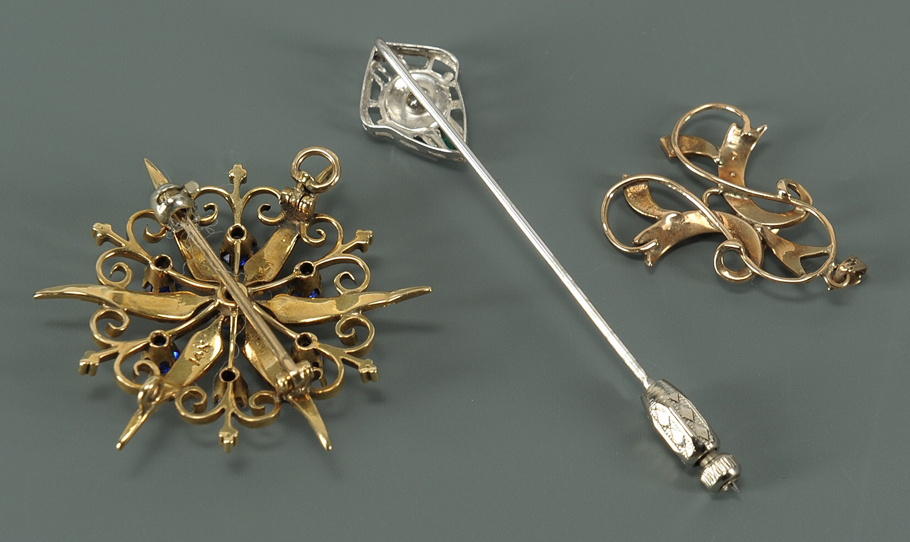 Lot 218: Group of Ladies jewelry items: 18K, 14K, 10K