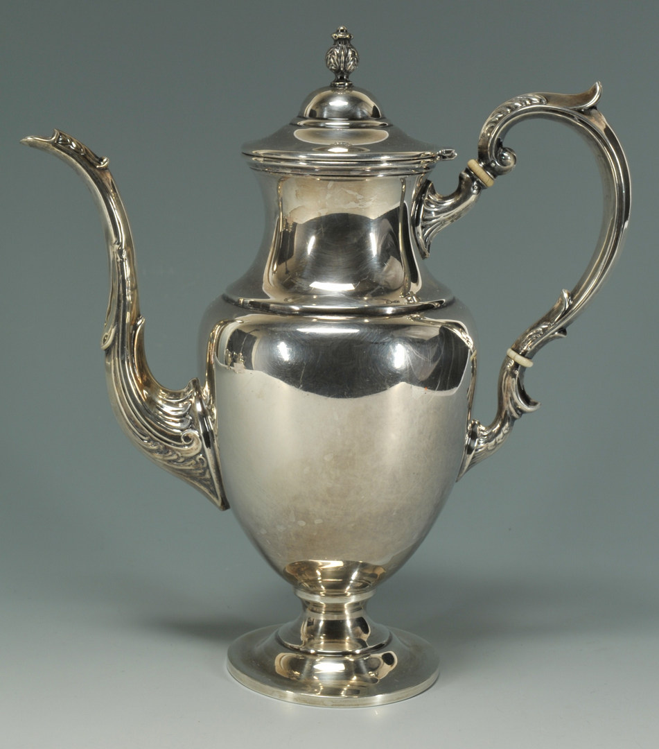 Lot 231: Fisher 3 piece Sterling Silver Tea Service