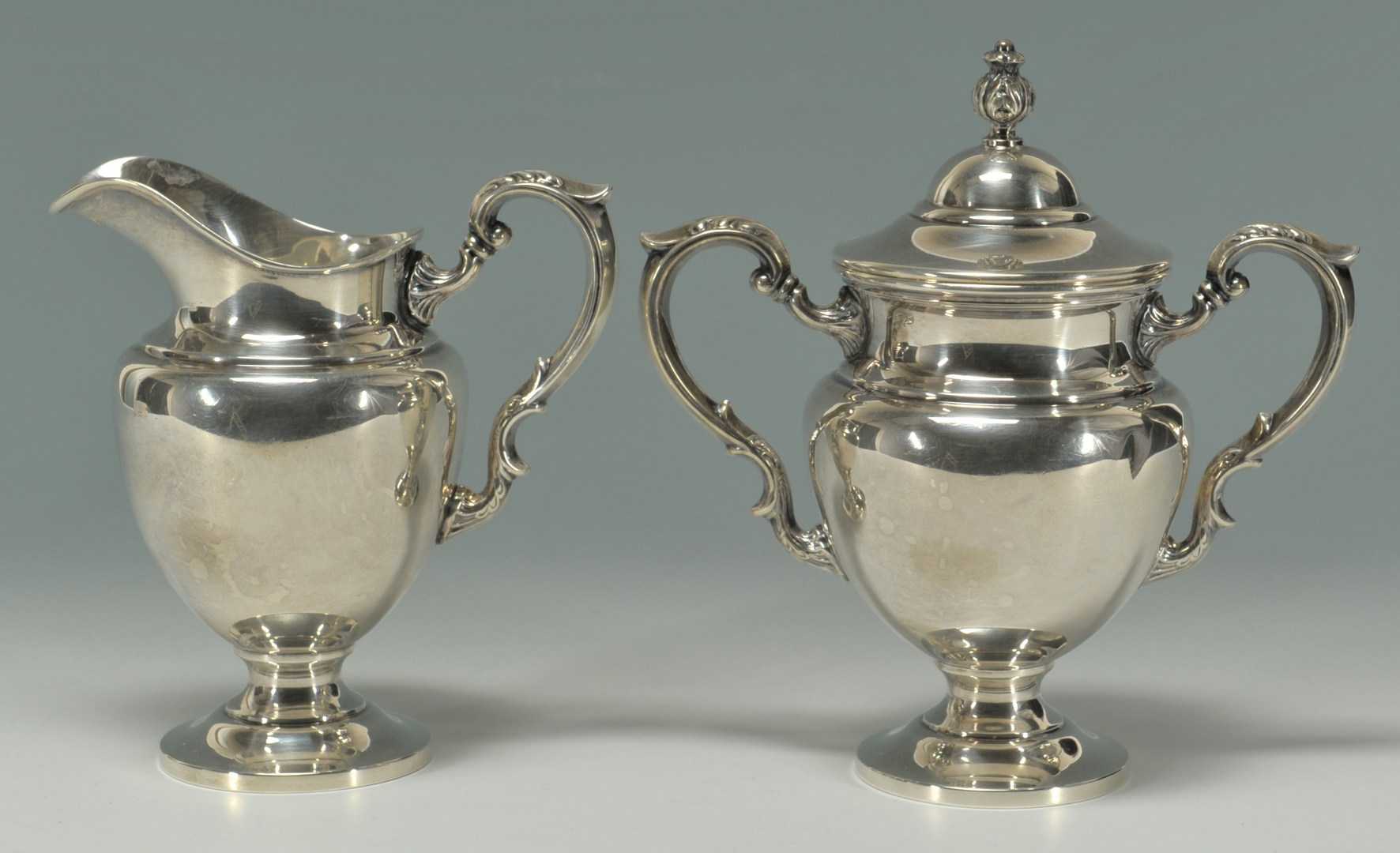 Lot 231 Fisher 3 Piece Sterling Silver Tea Service