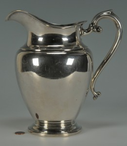 Lot 232: Preisner Sterling Silver Water Pitcher