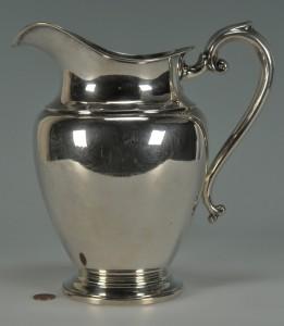 Lot 232: Preisner Sterling Silver Water Pitcher - Image 1