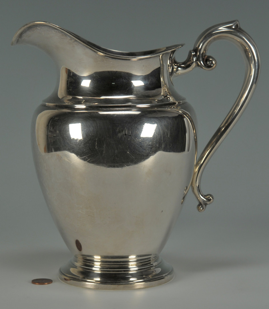 Lot 232 Preisner Sterling Silver Water Pitcher