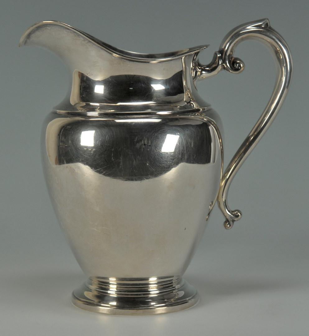Lot 232: Preisner Sterling Silver Water Pitcher