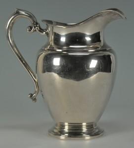 Lot 232: Preisner Sterling Silver Water Pitcher - Image 3