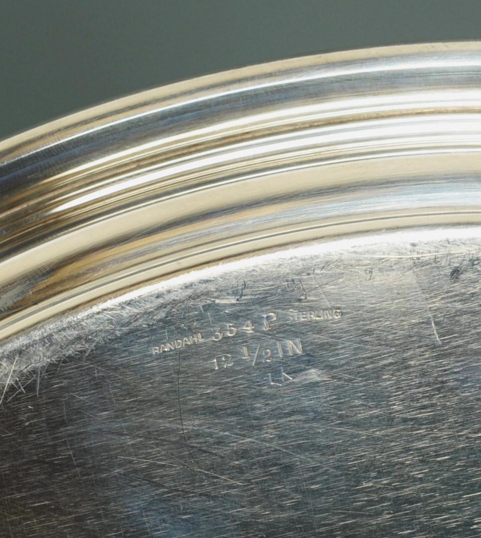 Lot 233: Randahl Sterling silver platter