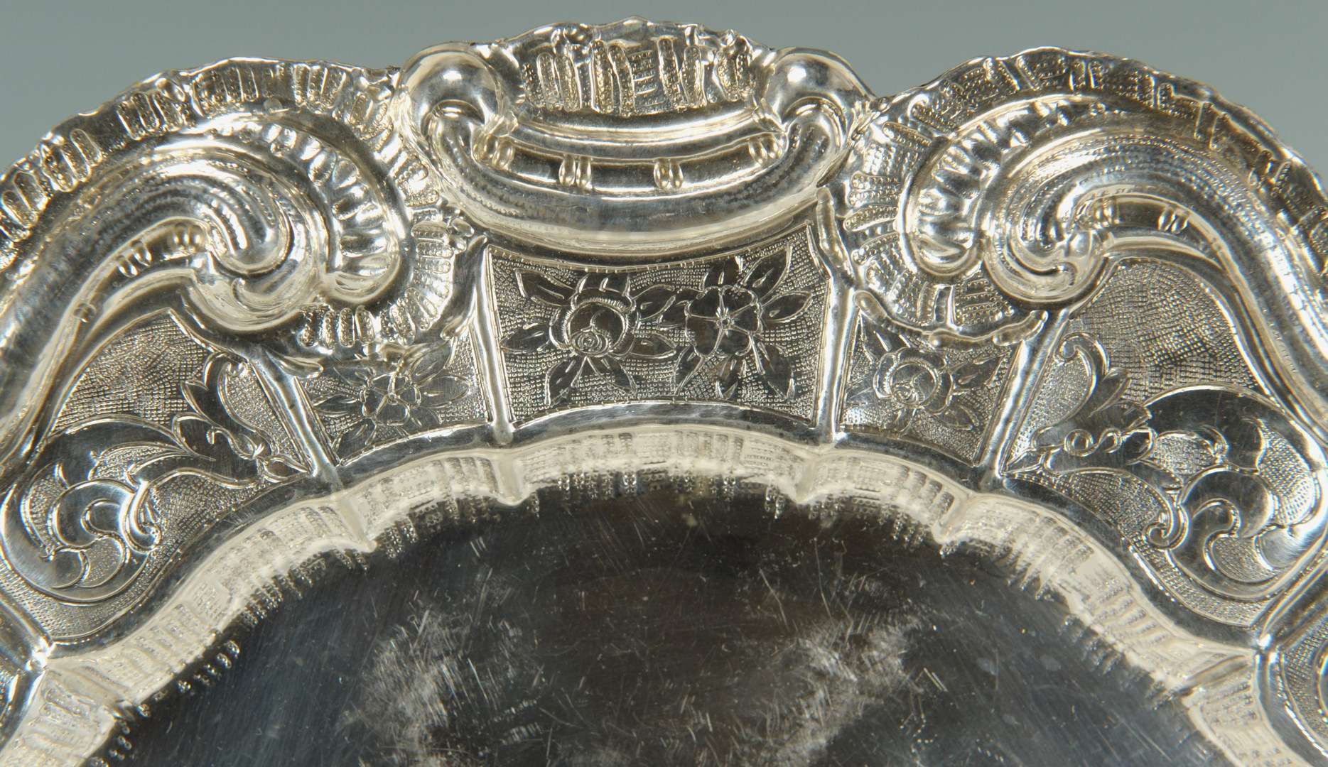 Lot 234: Continental .800 Silver Tray, Rococo style