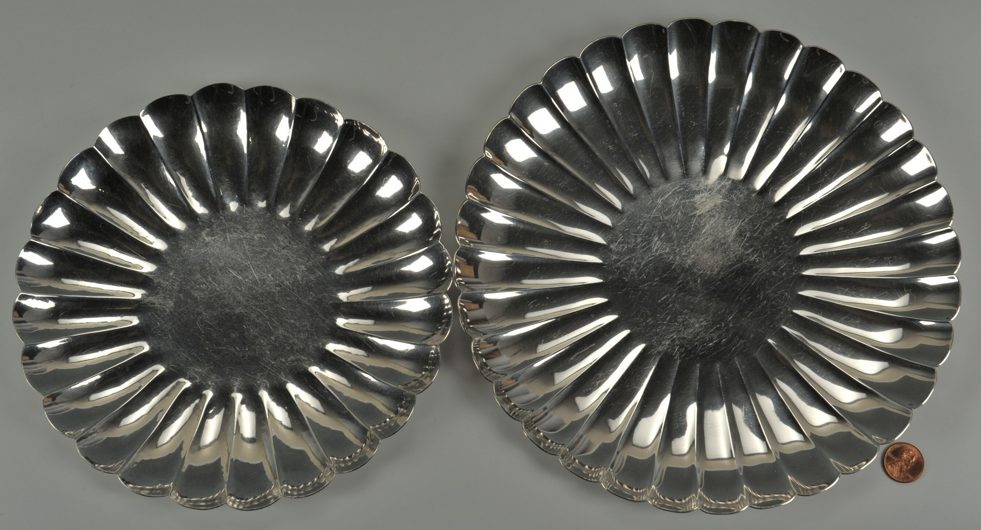 Lot 240: Two Sterling Silver Plates inc. Japanese Okubo
