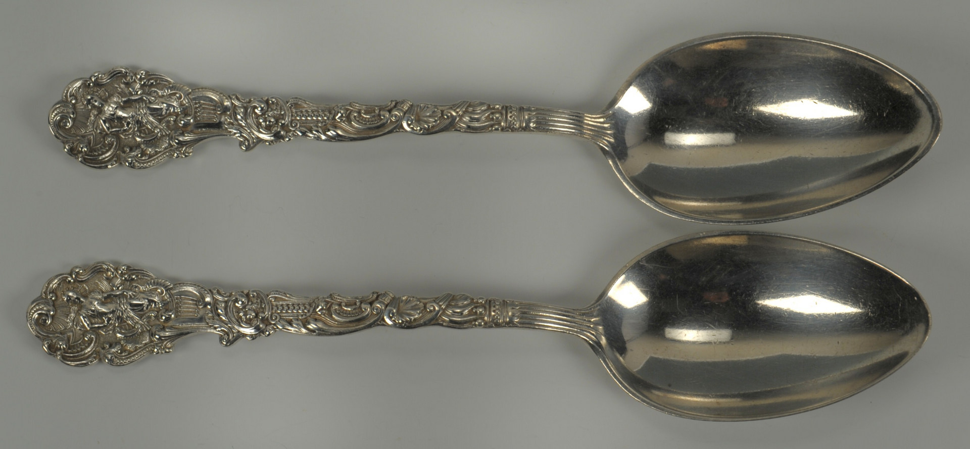 Lot 241: Tiffany sterling spoons and Gorham Versailles