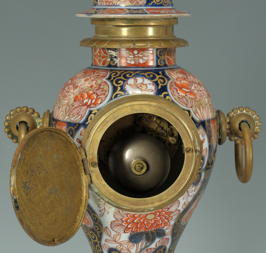 Lot 245: French Gilt Bronze Mounted Imari Clock