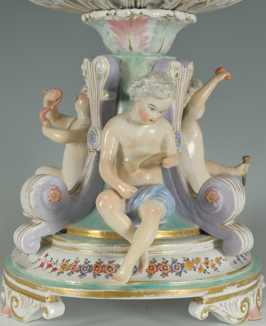 Lot 247: Large Meissen Style Figural Porcelain Centerpiece