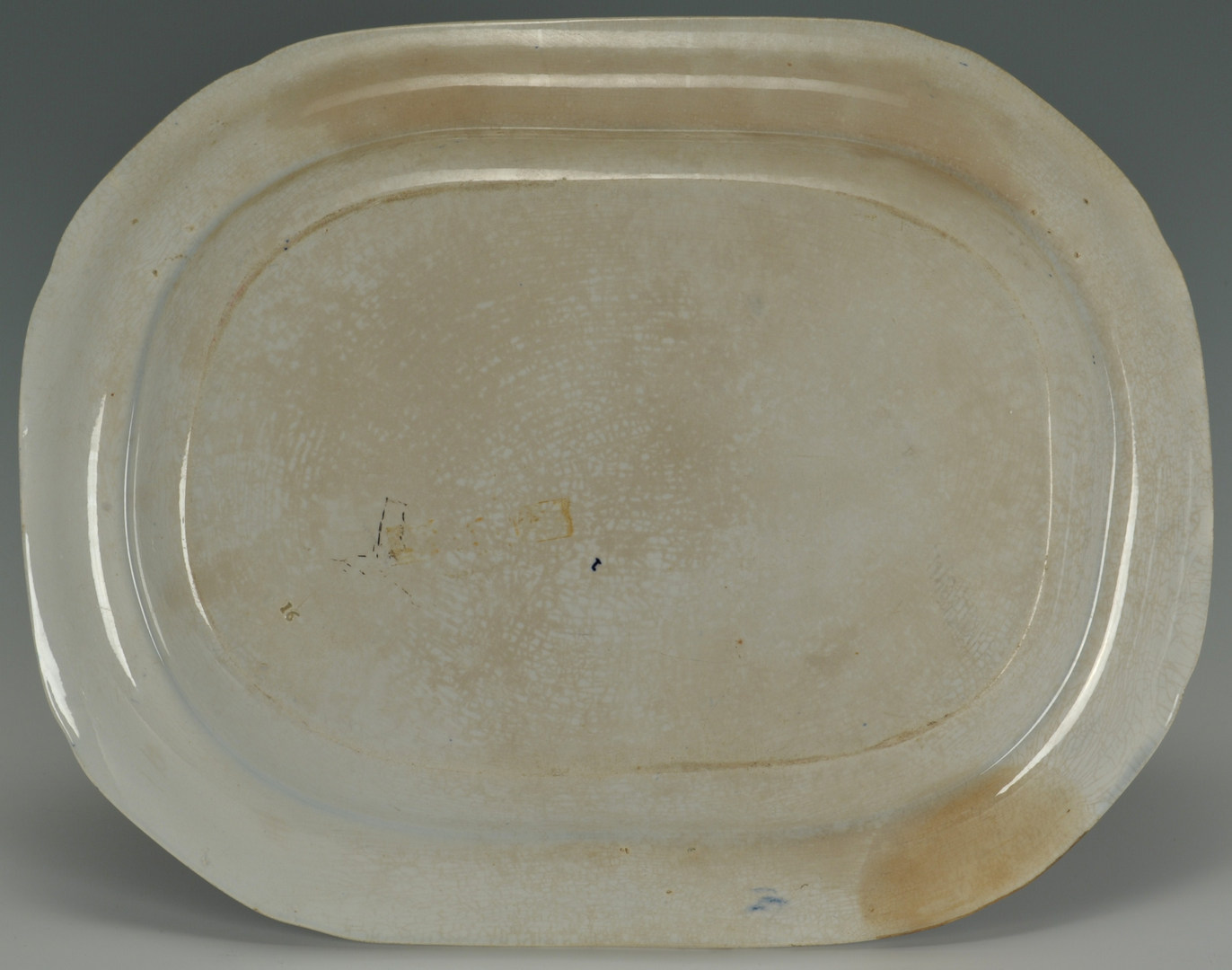 Lot 250: E. Woods and Sons Blue Staffordshire platter