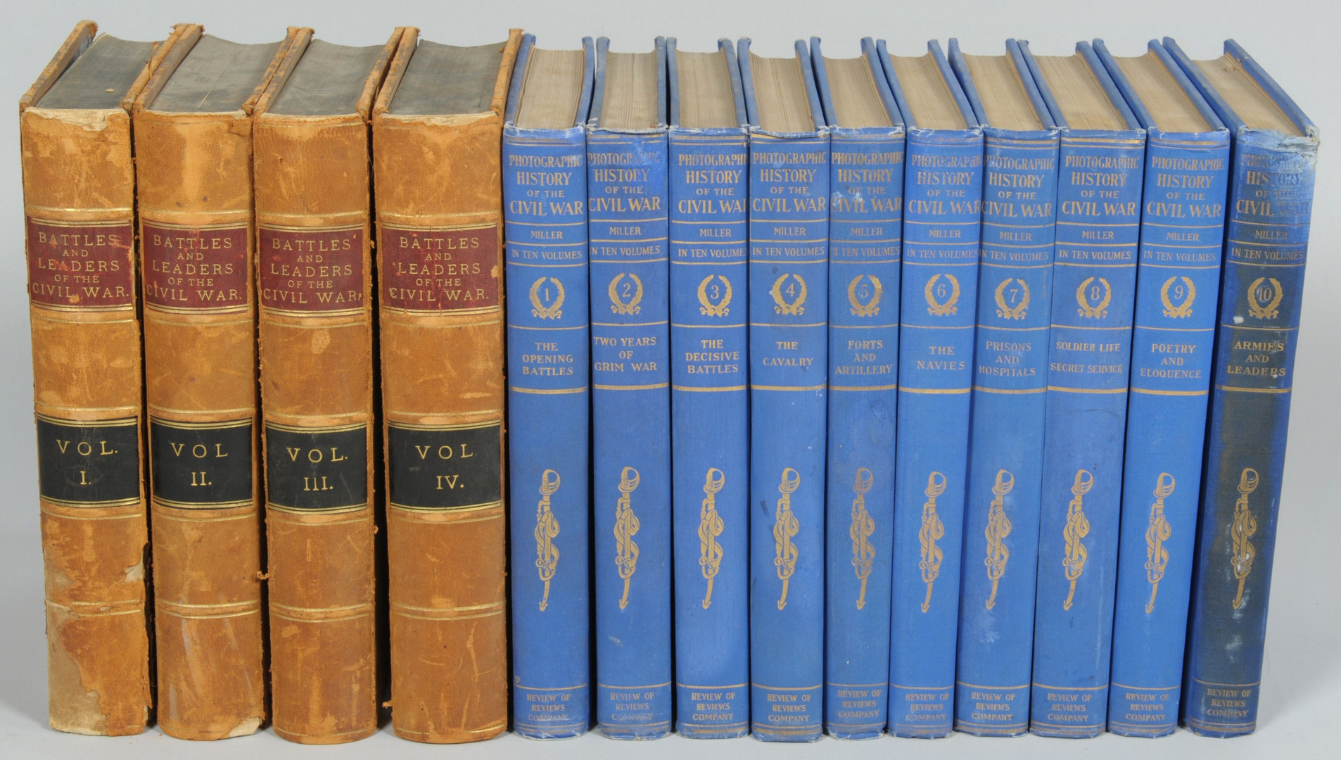 Lot 257: 14 Volumes of Civil War Related Books