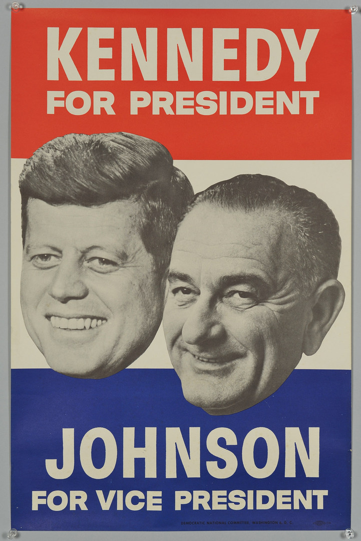 Lot 259: Two 1960 John F. Kennedy Campaign Posters