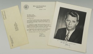 Lot 261: Robert Kennedy signed Civil Rights Letter, Photo