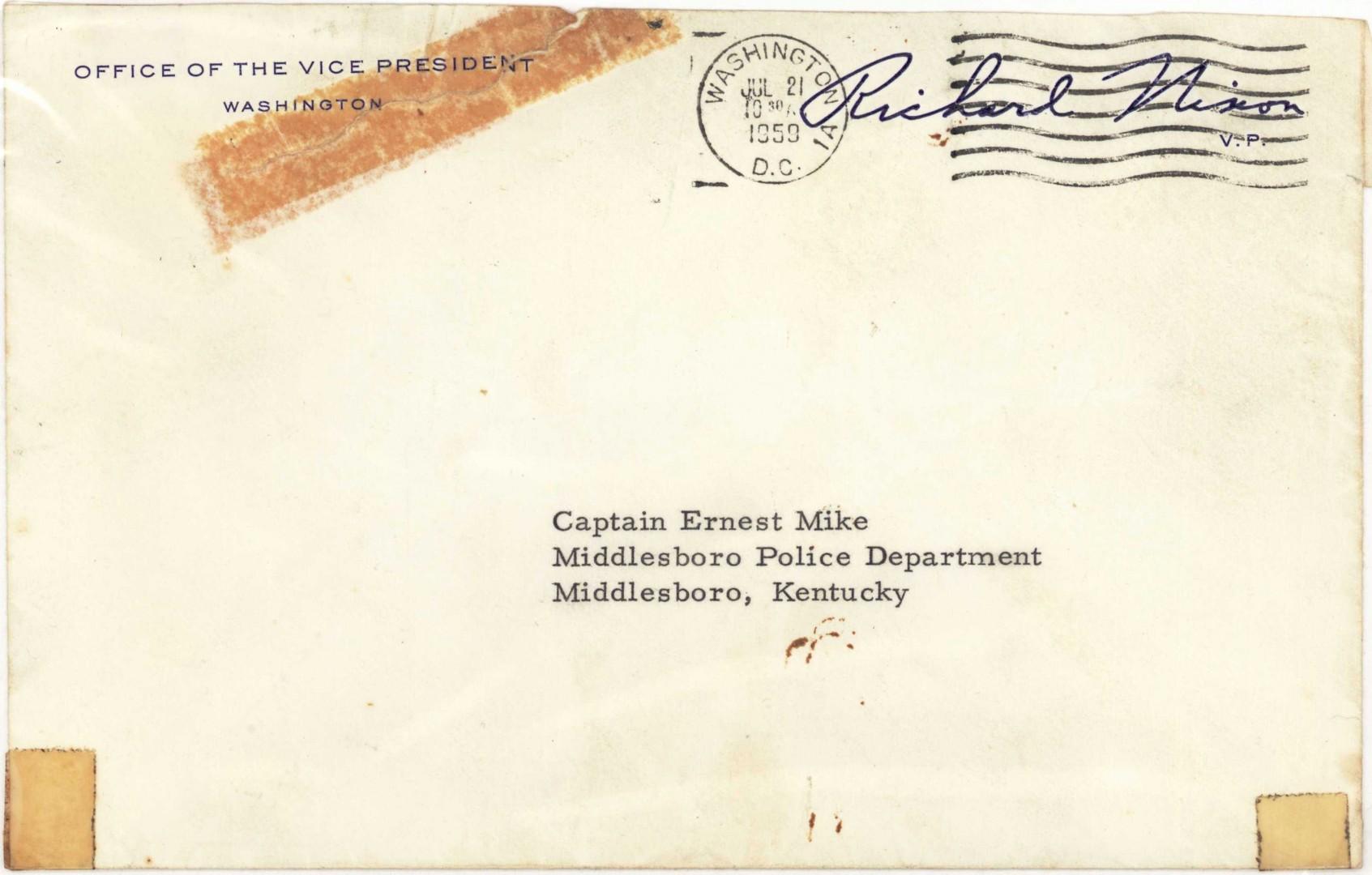 Lot 263: Nixon Signed Letter & Cumberland Gap Park Archive