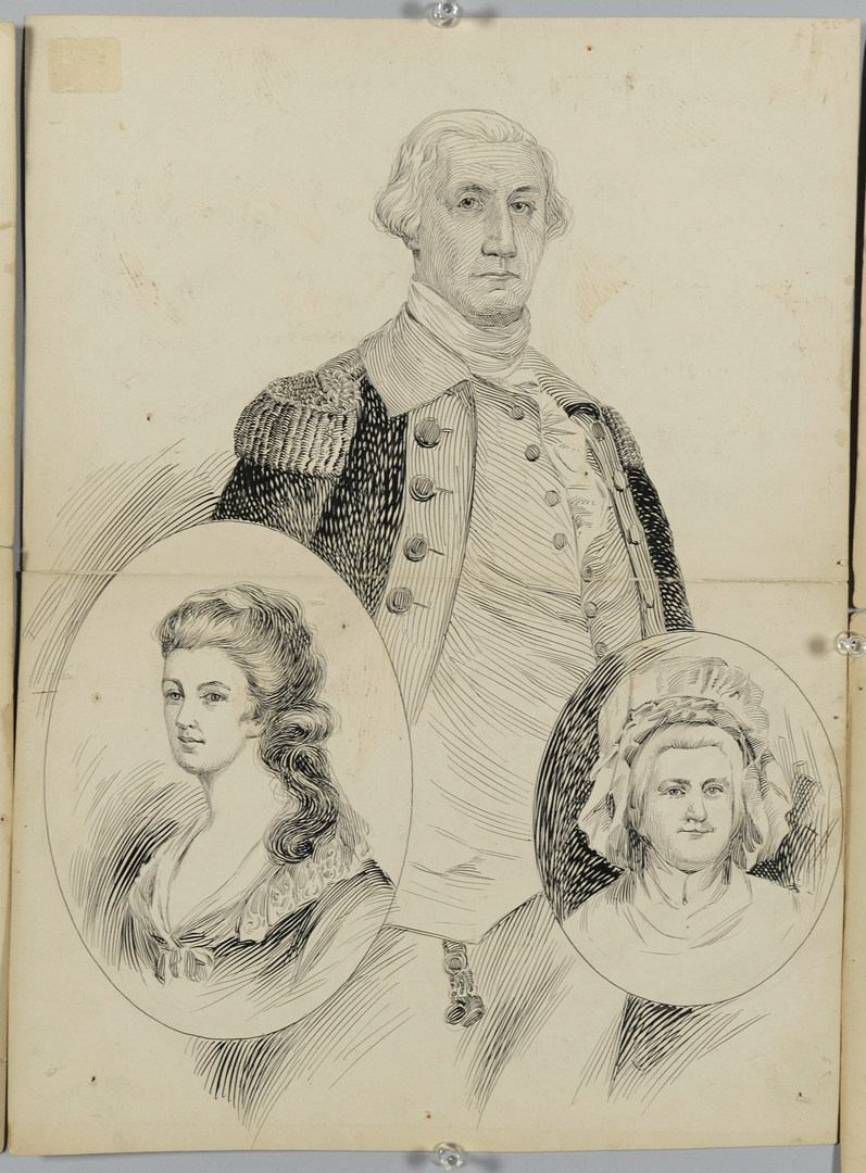 Lot 264: Presidential drawings by Albert Campbell