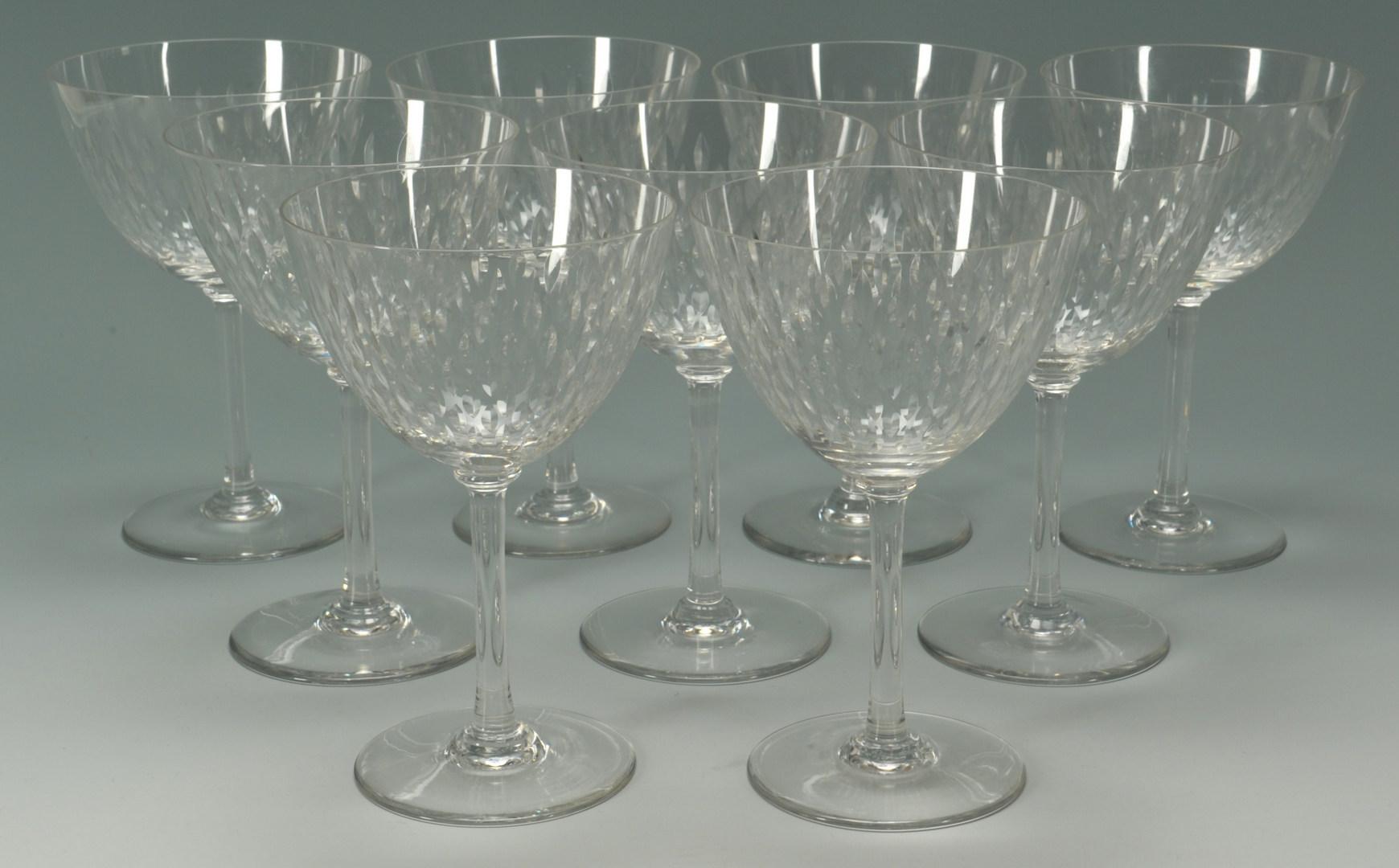 Lot 265 baccarat crystal water goblets paris pattern 9 t - Baccarat stemware ...